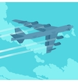 Heavy bomber in the sky vector image