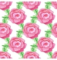 Watercolor handdrawn rose flowers seamless vector image vector image