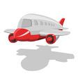 vector cartoon airplane vector image vector image