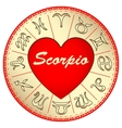 zodiac sign Scorpio for lovers on Valentine vector image