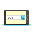Job search online vector image
