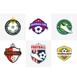 Set of vintage color football soccer championship vector image