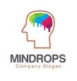 Mind Brain Creative Design vector image