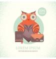 a cute owl vector image