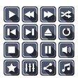Dark Multimedia Icons With Long Shadow vector image vector image