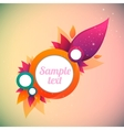flower abstract banner vector image