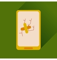 Flat web icon with long shadow mobile broken vector image