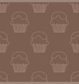 cream choco cake seamless pattern vector image