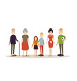 family people concept in flat vector image