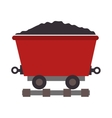 mining train cargo icon vector image