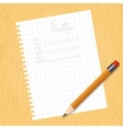 Sheet square and a pencil vector image