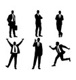 six businessmen silhouettes vector image