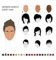 Women haircut styles short hair vector image