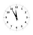 Christmas Old Clock vector image vector image