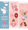 Valentine Day vertical banners vector image vector image