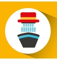 travel tourist hat concept sea cruise vector image
