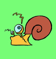 colourful snail crawling vector image