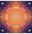 Colorful kaleidoscope background with label for vector image vector image