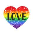 love gay pride emblem vector image