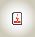 Accumulator icon with lighting symbol vector image vector image
