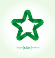 Recycle green Star with arrows vector image