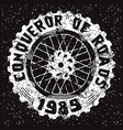 Motorcycle wheel emblem vector image