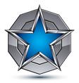 Celebrative metallic geometric symbol stylized vector image