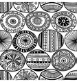 ethnic circles seamless pattern vector image