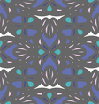 Dark grey and blue ornament seamless pattern vector image