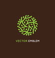 logo design template in green color vector image vector image