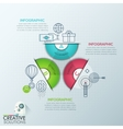 Business Infographics polygon origami style vector image
