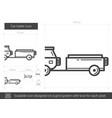 car trailer line icon vector image