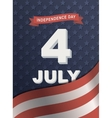 Card for Independence Day 4th of July vector image