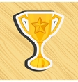 gold award design vector image