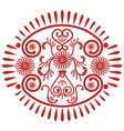 Lace oval patern inspired by Asian culture vector image