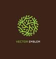 logo design template in green color vector image