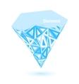Low poly diamond vector image