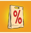 package discount percent sale vector image