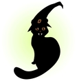 vampire cat with hat vector image