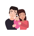 family baby couple parents mothers father icon vector image