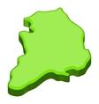 South Korea map icon cartoon style vector image