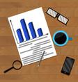 business financial flowchart vector image