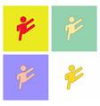 rhythmic gymnastics design collection vector image vector image