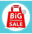 Great Christmas sale Holiday Sale with vector image vector image