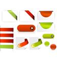 website tab elements vector image