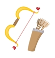 Cupids bows cartoon icon vector image