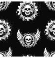 Rock skull music pattern vector image