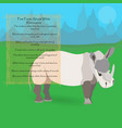 african white rhinoceros vector image