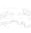 Arctic cartoon coloring book background vector image
