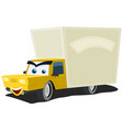cartoon delivery truck character vector image